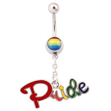 - You Choose - Quality - See Shop* Lesbian Gay Pride - Belly Rings - Various