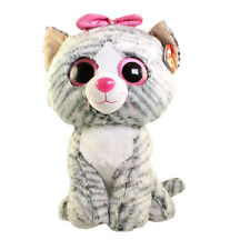 TY Beanie Boos - KIKI the Grey Cat (LARGE Size - 17 inch) - MWMTs Boo Toy