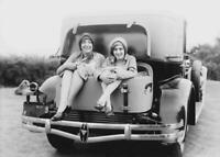 Vintage Photo ... Women in Trunk Hudson Motor Car ... Photo Print 5x7