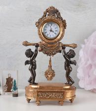 Tischuhr Antik Sammleruhr Frauenfigur Antik Uhr Psyche Kaminuhr Nostalgie