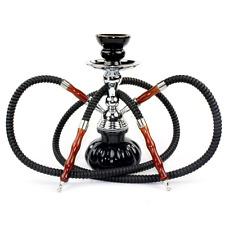 Hookah Shisha Tobacco Narguile Smoke Bong 2 Hose Complete Set Mini Glass Vase