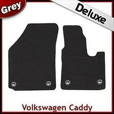 Volkswagen Caddy 2004 2005...2009 Tailored LUXURY 1300g Car Mats (Oval) GREY