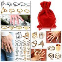Midi Ringe Knuckle Fingerspitzenring Set Finger Ring Gelenkringe + Schmuckbeutel