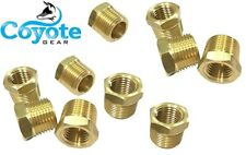 """10 Pack: 1/2"""" M x 3/8"""" F NPT- Made USA - Brass Hex Reducing Bushings Coyote Gear"""