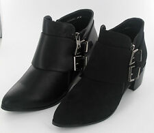 Buckle Block Heel Spot On Ankle Boots for Women