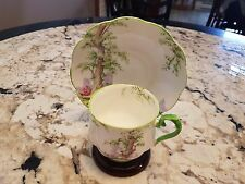 "ROYAL ALBERT ""GREENWOOD TREE"" FOOTED CUP SAUCER  CIRCA 1930'S"