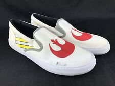 Sperry Sneakers Shoes Men 10 Star Wars White Canvas Red Lucas Casual Loafers
