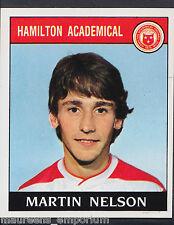 Panini Football 1989 Sticker - No 390 - Hamilton - Martin Nelson (D1)