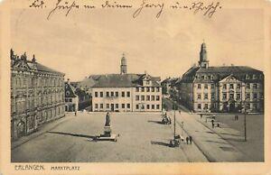 Postcard Ephemera Erlangen Marktplatz Germany DEU
