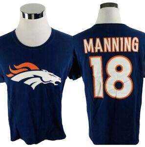 Peyton Manning Denver Broncos Blue T-Shirt Mens Large L