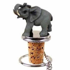 Elephant Hand Painted Resin Figurine Wine Bottle Stopper