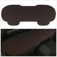 1 X Four Season Car Breathable Fine Linen Car Rear Seat Cushion Cover Black+Red