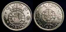 GUINEA-BISSAU 1952 Silver 10 Escudos Ch BU **