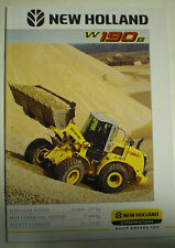 NEW HOLLAND W190B BAGGER PROSPEKT SALES BROCHURE ENGLISCH