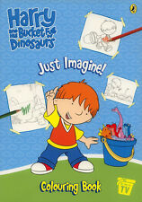 Harry and Dinosaurs coloring book RARE UNUSED