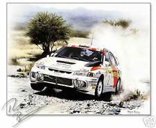 Mitsubishi Carisma WRC Limited Ed Wayne Vickery Signed by Richard Burns