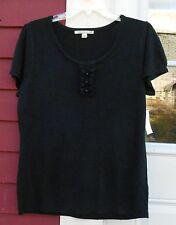 CAROLYN TAYLOR New With Tags Short Sleeved Crew Neck Sweater Size Large