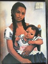 DELFINA FLORES AND HER NIECE MODESTA by Diego Rivera Reproduction Painting 27X35