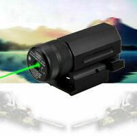 Tactical Compact Green Dot Beam Laser Sight Quick Release Rail Mount Battery~