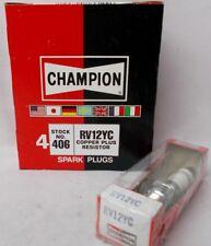 Champion Spark Plug Copper Plus Stock # 406 RV12YC Box of 4 Plugs