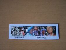 ISLE OF MAN 2002 QUEEN MOTHER SET OF 3,F/USED ON PIECE,EXCELLENT.