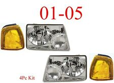 01 05 Ford Ranger 4Pc Head & Park Light Kit Assembly