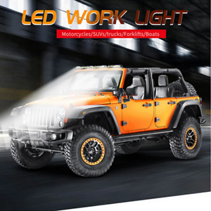 18CM Single Row 12-80V DC LED Work Light Bar Waterproof Fit For Car Off road SUV