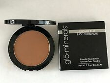 Glominerals Pressed Base Powder Foundation Compact Cocoa Light