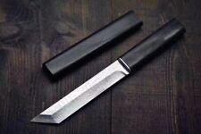 Mini Japanese Samurai Tanto Knife Traditional Forged Damascus Steel Blade Wood S