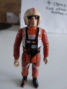 Vintage Star Wars POOR Condition Original Han Luke Skywalker X-Wing Figure