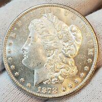 1878 S BU UNC++ SPARKLING WHITE KEY DATE GORGEOUS MORGAN SILVER DOLLAR LOT #W33