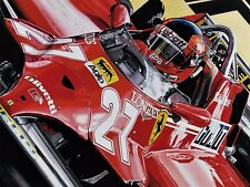 Gilles Villeneuve 90 x 70 cms limited edition F1 art print by Colin Carter