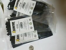 """400 Pack 8"""" Black Zip Ties/Cable Ties Heavy Duty Nylon UV Resistant UL Scorpion"""