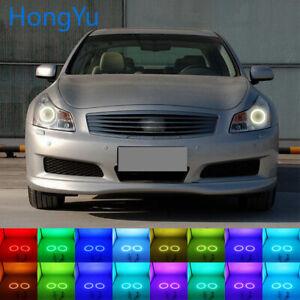 RGB Multi-Color LED Angel Eyes Halo Rings for Infiniti G35 Nissan Skyline 06-08