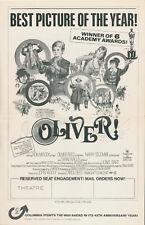 OLIVER! - FILM MUSICAL - TWO PRESSBOOKS - ROADSHOW & GENERAL RELEASE - RARE
