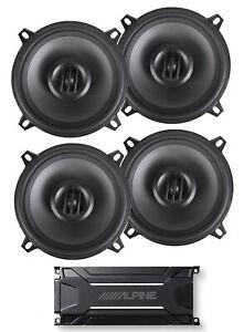"""ALPINE KTA-30FW 600 Watt 4-Channel Amplifier Amp+(4) MTX Thunder 5.25"""" Speakers"""