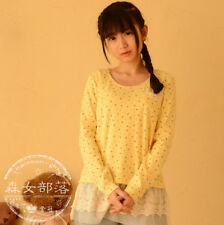 Brand New Japan Mori Style Cute Bow Lace Shirt Blouse Top XS