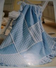 Crochet Pattern to make ~ Baby Patchwork Blanket  ~ Textured  Design ~ Easy