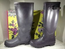 JOULES Womens Field Welly Purple Rubber Water Rain Boots Shoes Size 9 ZR-4