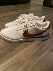 Nike Women's Size 8.5 Cortez G Golf White/Red Shoes CI1670-100
