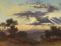 JOHANN JAKOB FREY SWISS SUNRISE OLD ART PAINTING POSTER PRINT BB5866A