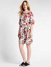 M&S COLLECTION Oriental Print Loose Fit Wrap Dress Size 14 RRP £39.50 BNWT