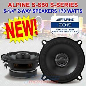 "ALPINE S-S50 5.25"" CAR AUDIO SPEAKERS 170W 2-WAY SILK TWEETERS COAXIAL 5-1/4"""