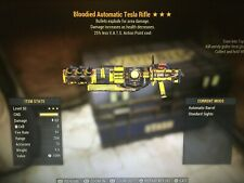 Bloodied Explosive Tesla 25 V.A.T.S 3 Star (PS4 Fallout 76)