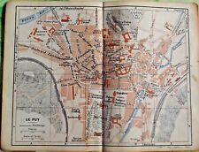 1930 the guide of the old town Le Puy department 43 France old map art print