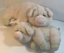 Stuffed Pigs Mother And Baby Dakin Lou Rankin Plush Applause Pink