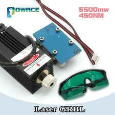 5.5W 450nm CNC laser machine parts 5500mw laser head laser tube & safety goggles