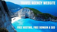 TRAVEL AGENCY WEBSITE BUSINESS (FREE DOMAIN, HOSTING & SEO INCLUDED)