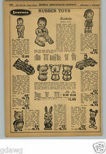 1948 PAPER AD Sunruco Rubber Doll Dolls Chunky Sunbabe Mickey Mouse Fire Truck +