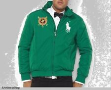 POLO RALPH LAUREN MEN Jacket Coat Size L Killian Green Big Pony Racer Hoodie nwt